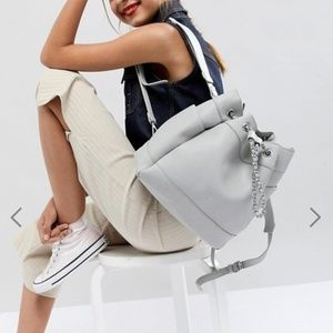 ASOS Light Gray Park Lane Backpack